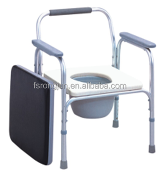 height adjustable steel folding commode chair potty chair for adults elderly rj c817 buy. Black Bedroom Furniture Sets. Home Design Ideas