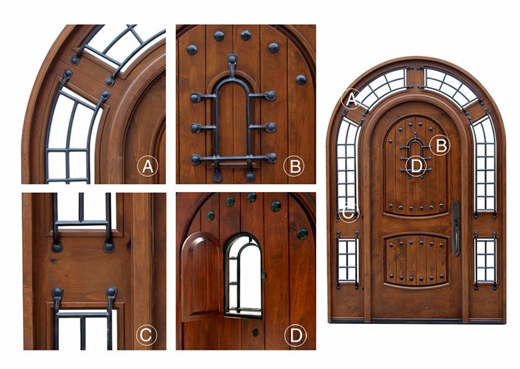 Iron grill main door design solid wood arch door wooden for Main door grill design
