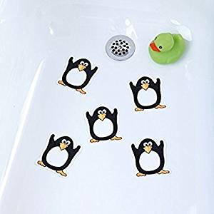 Get Quotations · Kids Bathtub Appliques   Penguin Tub Tattoos Shower Decals  Kids Babies Treads Non Slip Applique