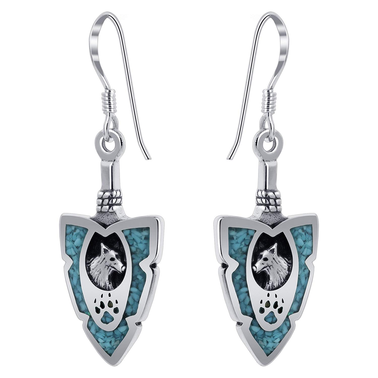 Amulets Love Couple Wolf Tooth Paw Lucky Charms Tiger Eye Simulated Turquoise Pendant Necklaces