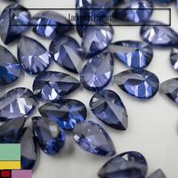 Facets Gems Artificial Tanzanite CZ Stone Pear Dark Semi Precious Stone