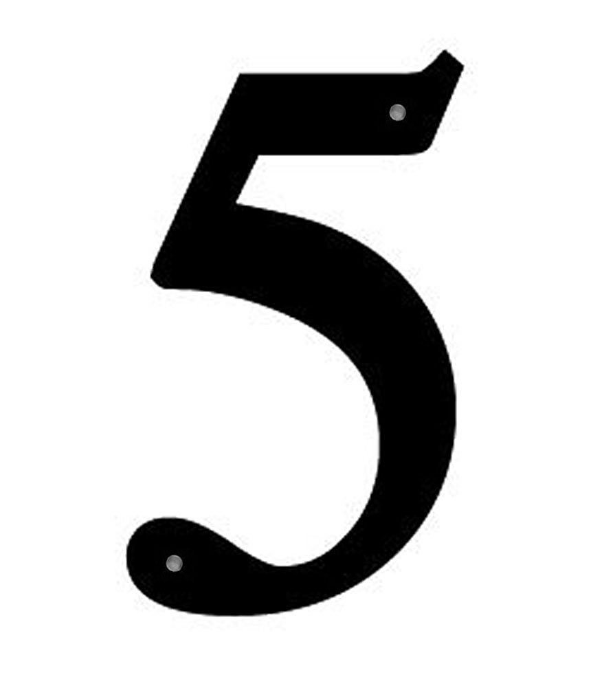 Get Quotations Wrought Iron House Number 5 Sm