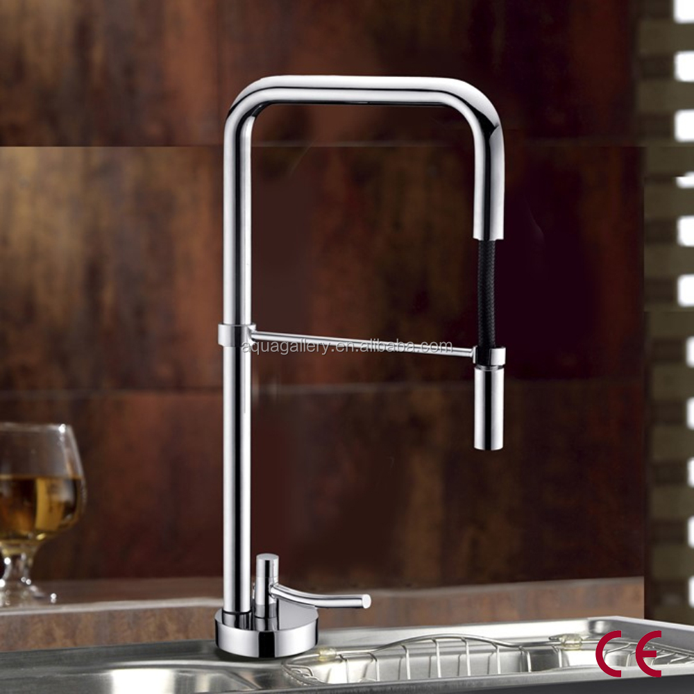 Europe Standard Solid Brass Pull Down CE Kitchen Sink Faucet