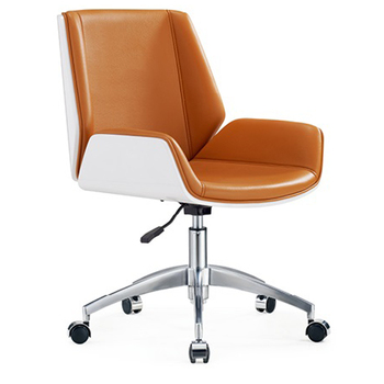 Modern Office Meeting Room Reception Leather Guest Visitor Chair With Armrest