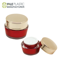 luxury red plastic cosmetics packaging manufacture cosmetic jars wholesale
