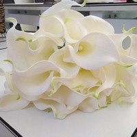 White Real Touch Artificial Calla Lilies Wholesale
