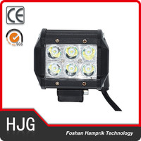 4'' 18w motorcycle work light square driving light off road truck