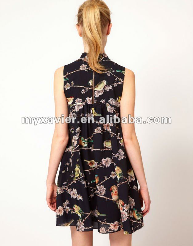 Bird Branch Print fashion clothing Dresses casual 2012