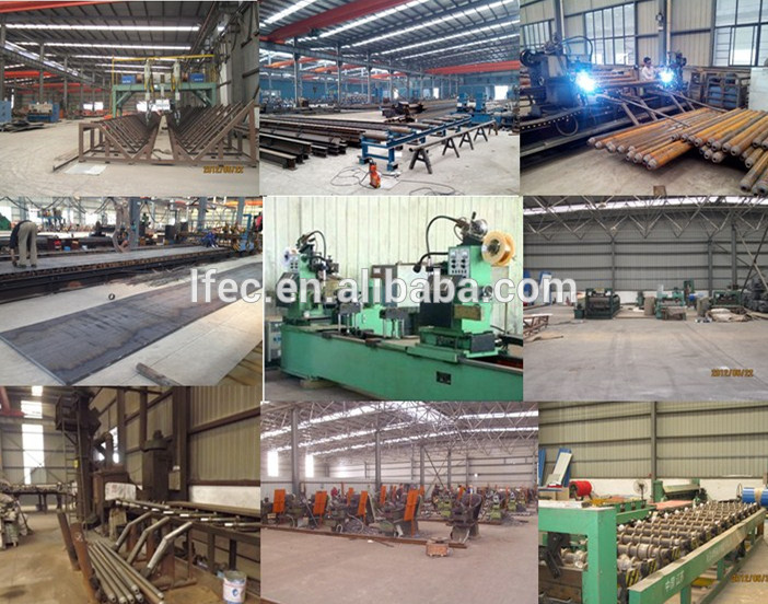 Light structural steel fabrication for coal storage shed