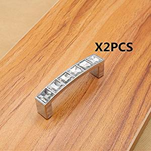 Get Quotations · IdealDecor 2PCS 96MM Square Diamond Acrylic Pulls For  Cupboard, Chest.Vanity Knobs For Girls