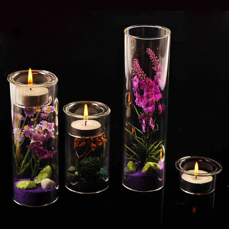 new design colored glass tubes for candles