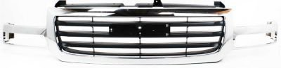 Evan-Fischer EVA17772024419 Grille for GMC Sierra 1500/2500 03-06 Chrome Shell/Painted-Black Insert 2007 Classic