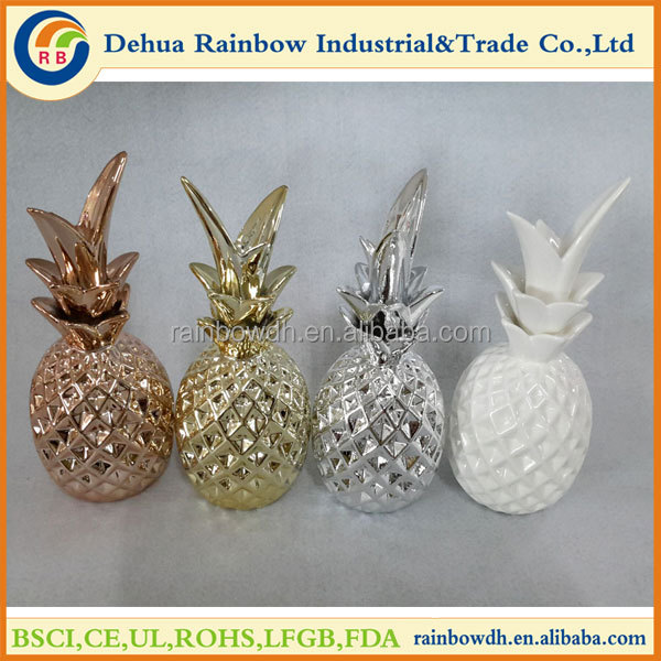 Wholesale ceramic pineapple decor with different colors