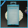 Blister packaging PVC plastic box for phone case with hanging tab