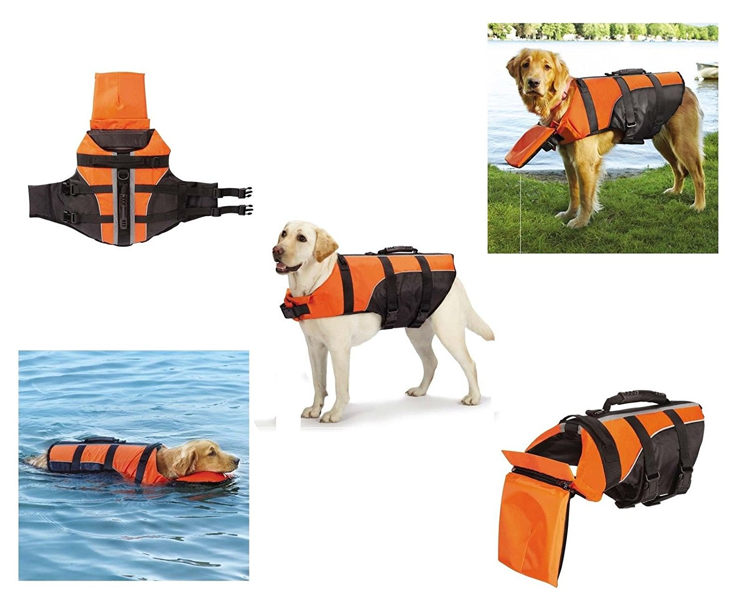 Deluxe Detachable Pillow Vest for Dogs - Water Safety Dog Flotation Life Vests(Small/Medium)