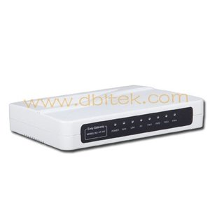 4 FOX VoIP Gateway with router support SIP/H.323 protocols HT-342