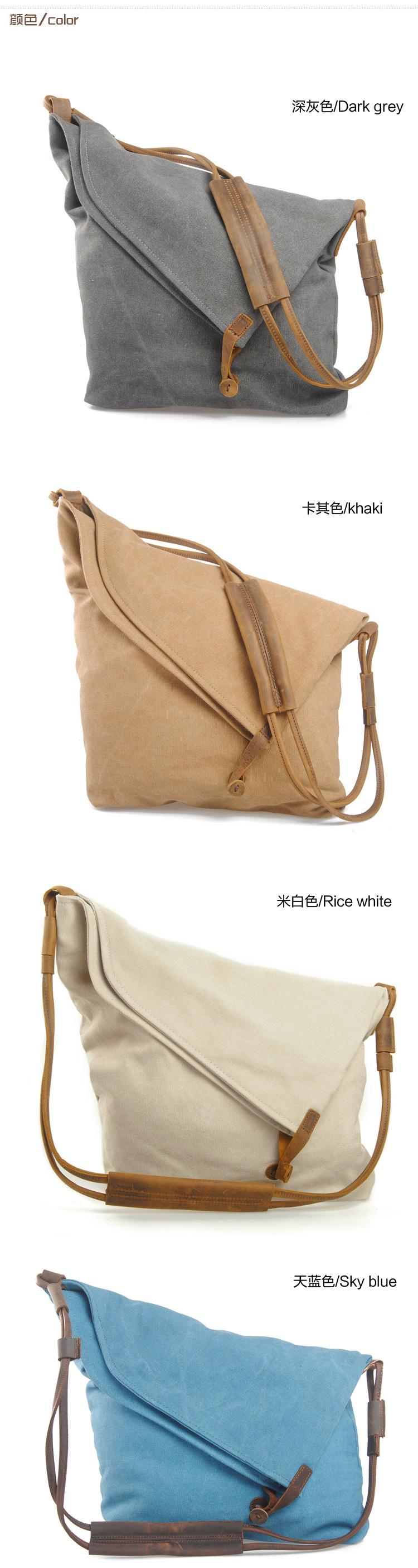 Latest Popular Funky Design Sky Blue Canvas Satchel Shoulder Bag for Women 5139f45e76