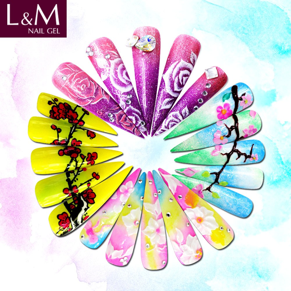 L&M Clear Color UV Gel Nail UV Builder Gel Nail Art Manicure Tips Glue High Quality