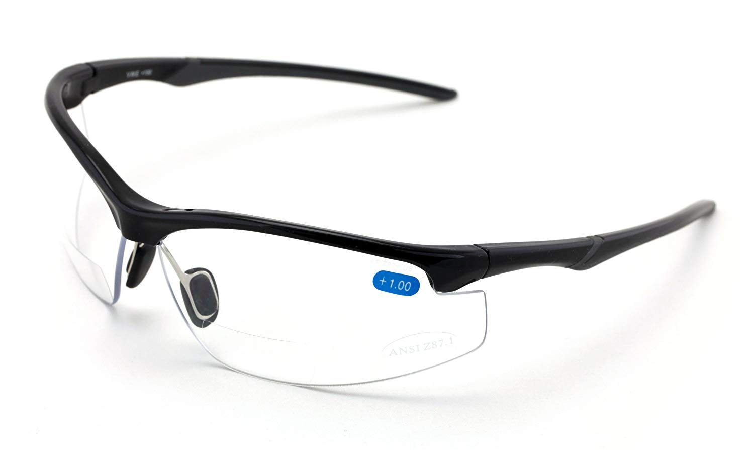 d172f4723424 Get Quotations · Bifocal High Performance Sport Protective Safety Glasses  Bi-focal - Clear Lens Reader Reading Glasses
