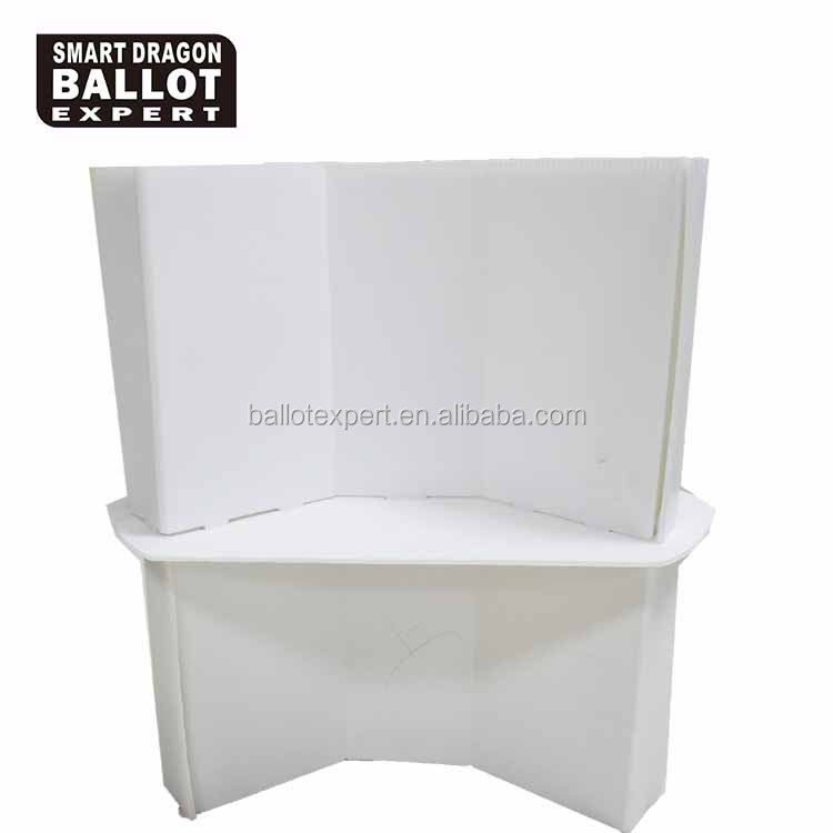 easy assembling plastic display nigeria election floor booth stand