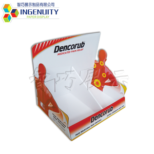 ECO-friendly Cardboard POP Display for Vitamin Pharmacy Products Corrugated Display Stands