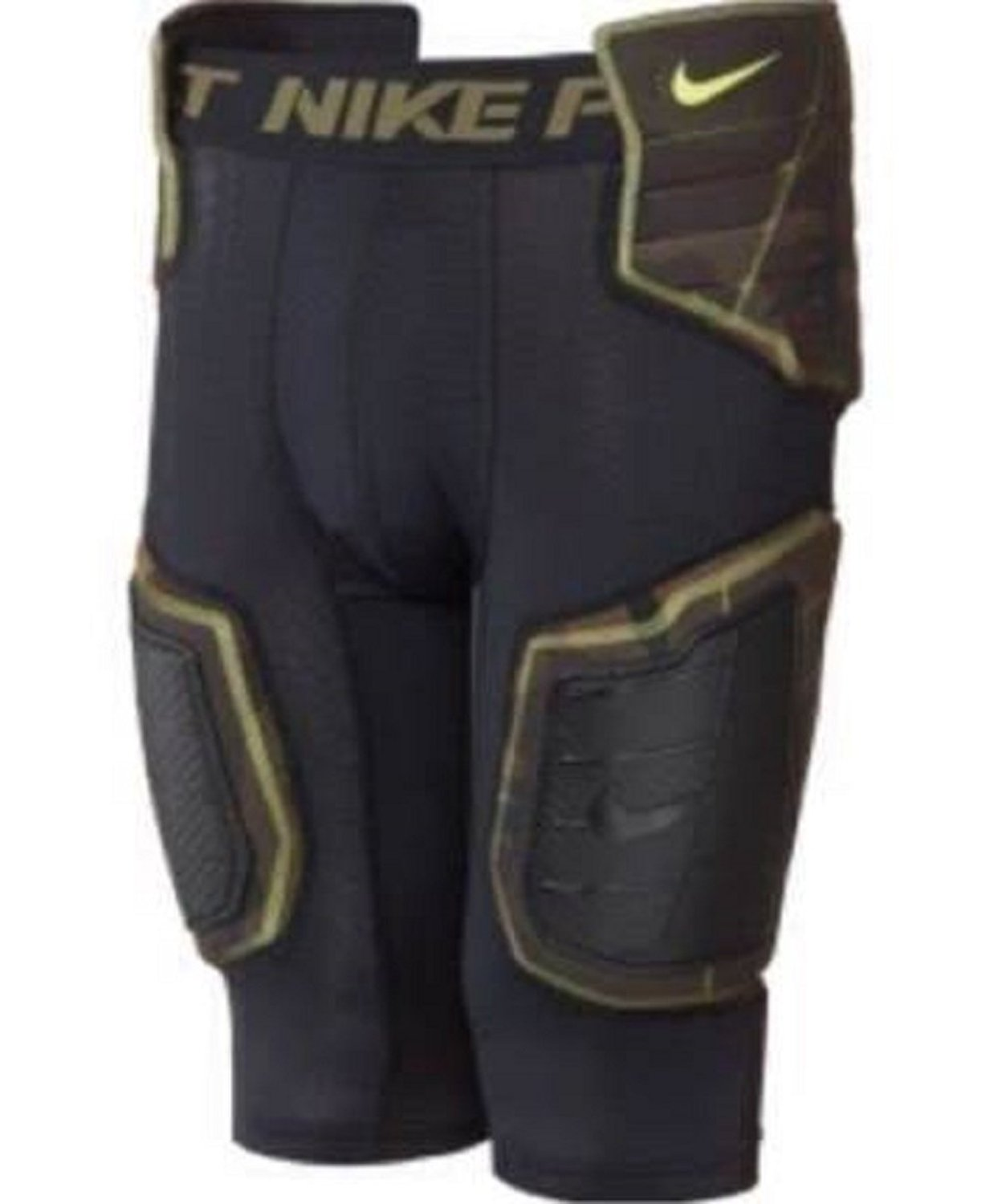 ad570579209 Get Quotations · Nike Boys Pro Combat Hyperstrong Hard Plate Black Camo Football  Girdle Small
