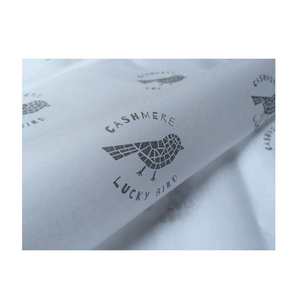 Customised logo printed gift wrap tissue silk paper for packaging
