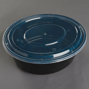 Good toughness & airtightnesss more thicker oval shape 3000ml hot pot airline food container