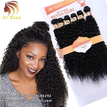 Best Synthetic Hair Weave Bundles 16 18 20 Inch Mixed Pack Wavy And Curly Hair,Brazilian Deep Curly Hair Bundles