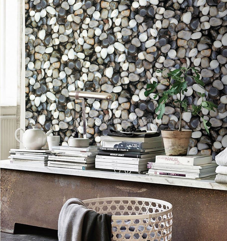 Waterproof Vinyl Wallpaper 3d Stones Designs Manufacturers For India