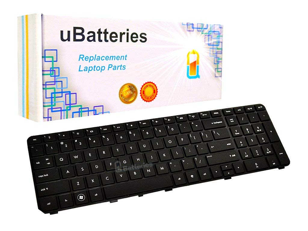 UBatteries Compatible Laptop Keyboard Replacement For HP Pavilion dv7-4285dx - Black (With Frame)