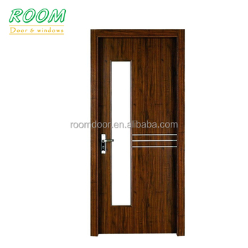Wooden Glass Pooja Room Door Design