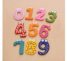 Magnet Toy Set 10 Digital Number Wooden Baby Early Learning
