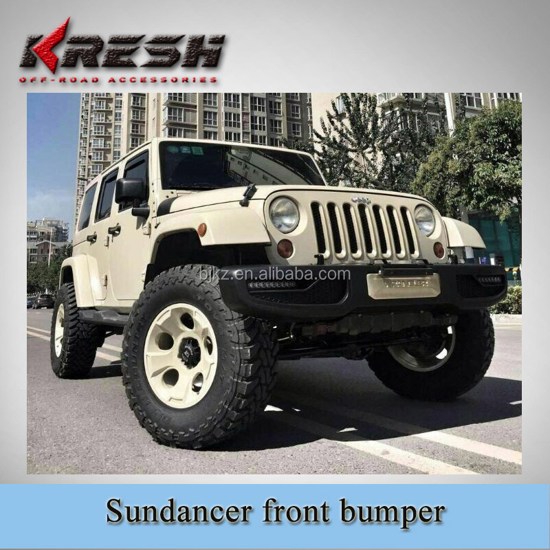 4x4 SUV KRESH-sundancer wrangler jeep front guard bar used for 2007-2015JK with black color and steel material