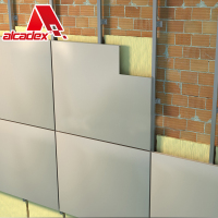Dry Joint Aluminum Composite Panel Wall Cladding System for mounting aluminum composite material (ACM)