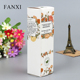 FANXI factory wholesale cheap custom logo color printed small product flat pack cosmetic card paper packaging box for Perfume
