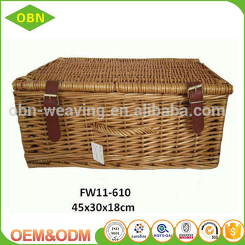 Wholesale fashion convince storage basket wicker cheap empty gift hamper boxes baskets