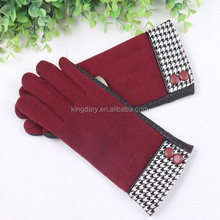 2016 Multi Colour Check Cuff Classic Touch Female Gloves