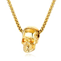 Punk Style Men Skull 316L Stainless Steel Charm Necklace