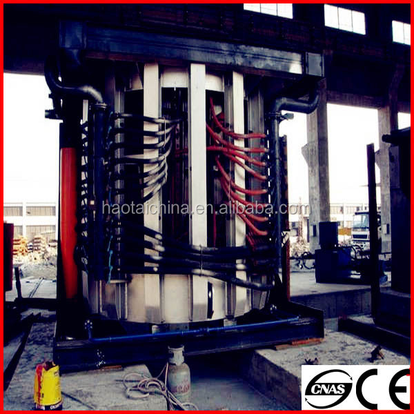 Best selling 15t steel shell induction furnace for melting steel scrap