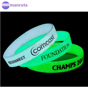 Luminous Silicone Wristband customized glow in the dark rubber bracelet leading manufacture