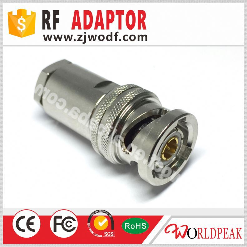 rf connector three waterproof bnc female connector adapter in one row