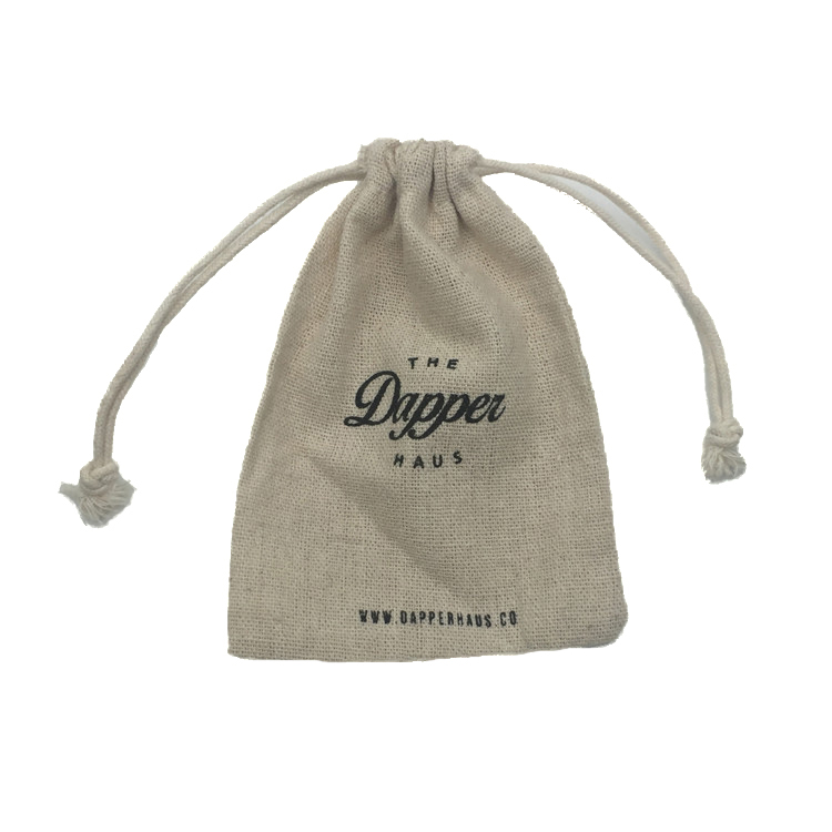 Custom Printed Linen Drawstring Jewelry Pouches Bag with Cotton Rope