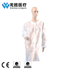 Disposable SMS White Surgical Lab Coat With Elastic Cuff