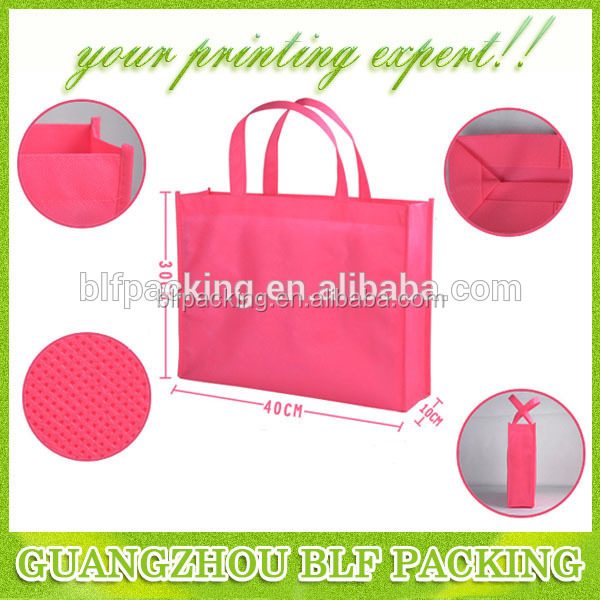 (BLF-NW012) Low cost foldable non woven shopping cloth bag