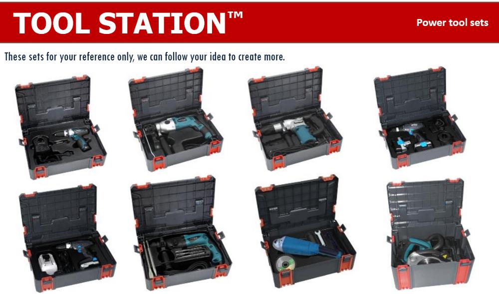 Vertak Portable Plastic Modular Chest Roller Tool Box
