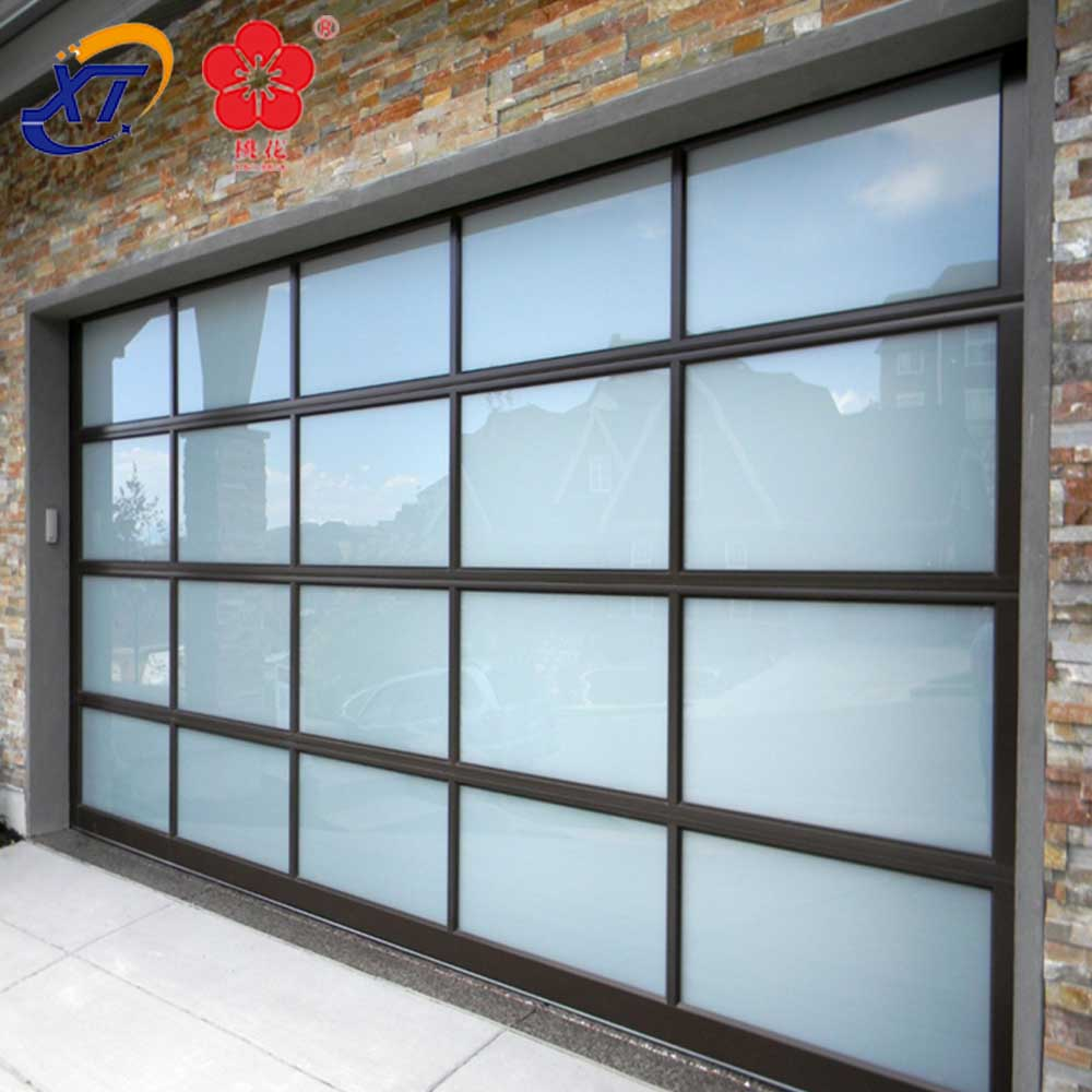 Shop Aluminum Frame Glass Garage Door Prices Full View Glass Panel & Home polycarbonate sliding aluminum full view garage doors