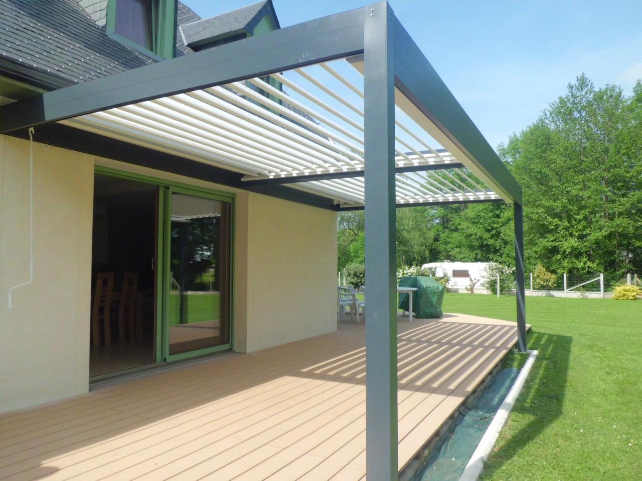 Pergola Alu modern design outdoor manual aluminium bioclimatic pergola with