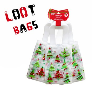 2019 Cello Bags Happy Holidays Clear Plastic Party Christmas Gift Treat Favor