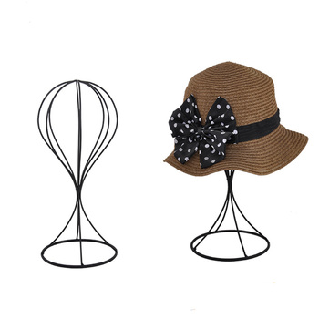Hard Wire Metal Hat Holder Tabletop Hat And Cap Display Stand
